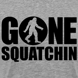 Gone Squatchin' Spotlight (Black) - Men's - Men's Premium T-Shirt