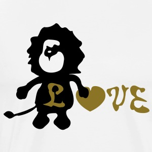 Lion &b love heart Men's Heavyweight T-Shirt - Men's Premium T-Shirt