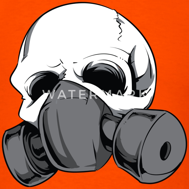 Skull with Gas Mask - Men's T-Shirt