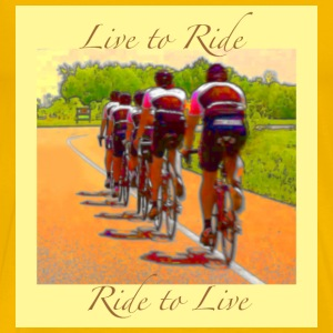 Cycling T Shirt - Live to Ride - Ride to Live - Men's Premium T-Shirt