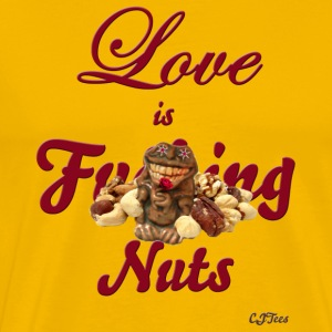 Love is F'ing Nuts - front only - Men's Premium T-Shirt
