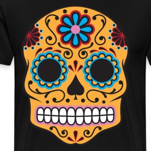 Sugar Skull HD Design T-Shirts - Men's Premium T-Shirt