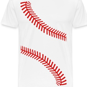 baseball seams T-Shirts - Men's Premium T-Shirt