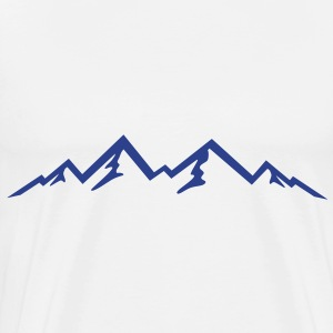 Mountains, Mountain, Nature T-Shirts - Men's Premium T-Shirt