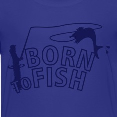 born to fish (fly fishing, 1c) Kids' Shirts