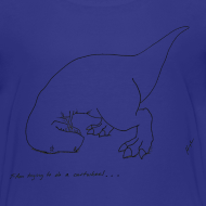 Design ~ T-Rex Cartwheel (Kids Tee)