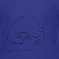 Design ~ T-Rex Cartwheel (Kids Tee)