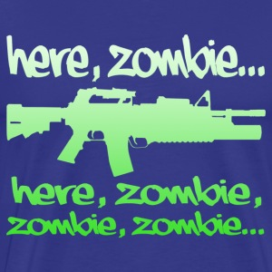 Here Zombie... - Men's Premium T-Shirt