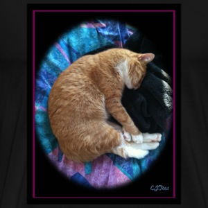 Cat - raised - Men's Premium T-Shirt