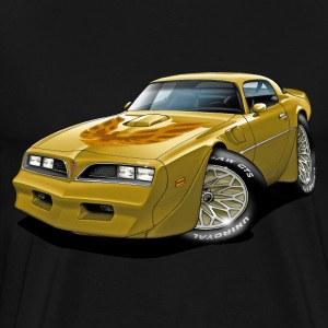 1977-78 Trans Am Gold Car T-Shirts - Men's Premium T-Shirt