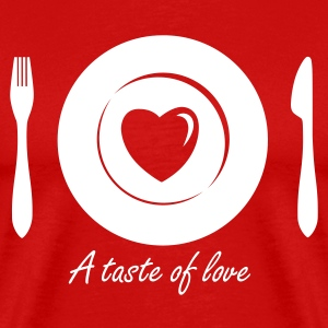 Love Dinner - Eat Heart 1c T-Shirts - Men's Premium T-Shirt