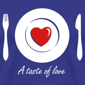 Love Dinner - Eat Heart 2c T-Shirts - Men's Premium T-Shirt