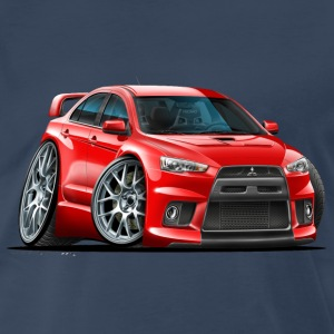 Mitsubishi Evo Red Car T-Shirts - Men's Premium T-Shirt