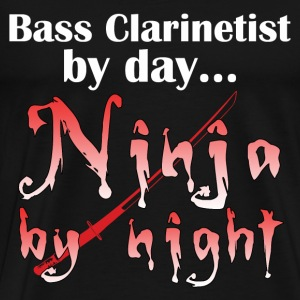 Bass Clarinet Ninja - Men's Premium T-Shirt