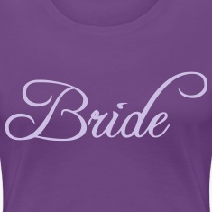 Fun Silver Grey Bride Text Word Graphic Design for Bachelor Parties, Hen Party, Stag and Does, Bridal Party and Wedding Showers TShirts Women's T-Shirts