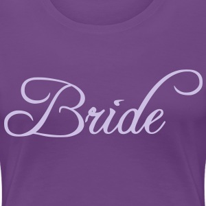 Fun Silver Grey Bride Text Word Graphic Design for Bachelor Parties, Hen Party, Stag and Does, Bridal Party and Wedding Showers TShirts Women's T-Shirts - Women's Premium T-Shirt