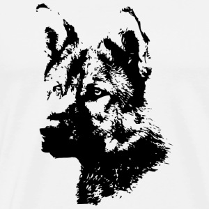 german sheperd dog T-Shirts - Men's Premium T-Shirt