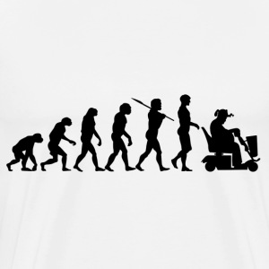 Evolution of Man to Scooter Guy T-Shirts - Men's Premium T-Shirt