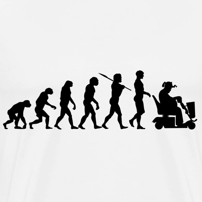 Evolution of Man - Scooter Guy