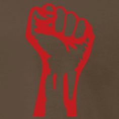 1 color - powerful class war revolution fist iron T-Shirts