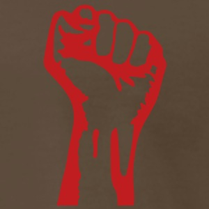 1 color - powerful class war revolution fist iron T-Shirts - Men's Premium T-Shirt