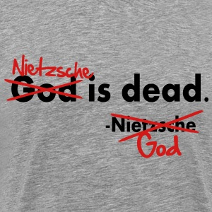 God / Nietzsche is dead. Vector Design T-Shirts - Men's Premium T-Shirt