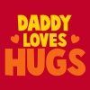 DADDY LOVES HUGS! with cute love hearts T-Shirts - Men's Premium T-Shirt