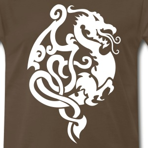 Dragon Tribal Tattoo 9 T-Shirts - Men's Premium T-Shirt