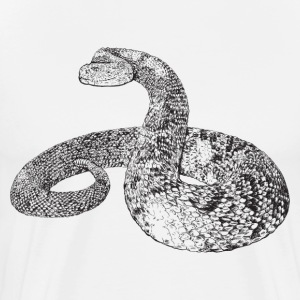 Rattlesnake HD Design T-Shirts - Men's Premium T-Shirt