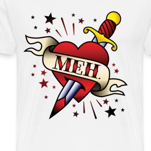Meh Tattoo Men's Heavyweight T-Shirt - Men's Premium T-Shirt