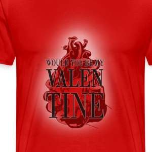 Will you be my valentine? T-Shirts - Men's Premium T-Shirt