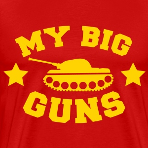 MY BIG GUNS Tank shirt T-Shirts - Men's Premium T-Shirt