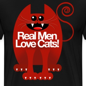 REAL MEN LOVE CATS! T-Shirts - Men's Premium T-Shirt