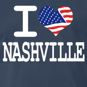 i love nashville - white T-Shirts - Men's Premium T-Shirt