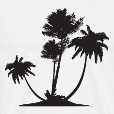 Palm Trees HD Design T-Shirts