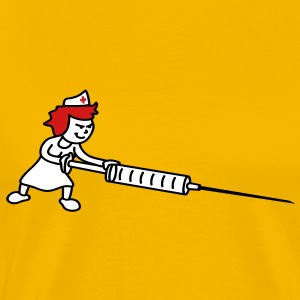 nurse_with_syringe T-Shirts - Men's Premium T-Shirt