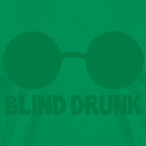 BLIND DRUNK with beer glasses good for St patricks day T-Shirts - Men's Premium T-Shirt