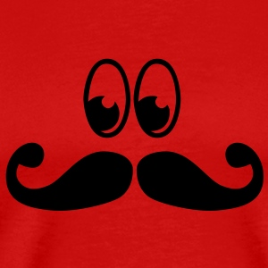 mustache with eyes T-Shirts - Men's Premium T-Shirt