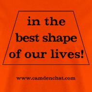 Design ~ Men's FRONT ONLY: Best Shape (orange)