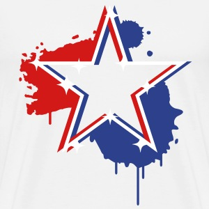 3D graffiti star design  T-Shirts - Men's Premium T-Shirt