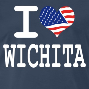 i love wichita - white T-Shirts - Men's Premium T-Shirt