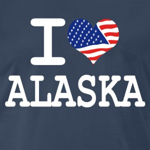 i love alaska - white T-Shirts - Men's Premium T-Shirt