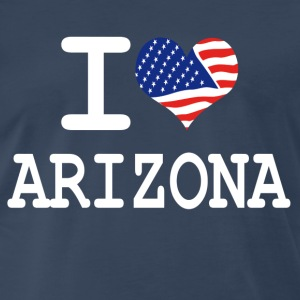 i love arizona - white T-Shirts - Men's Premium T-Shirt