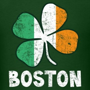 Boston Irish Flag T-Shirts - Men's T-Shirt