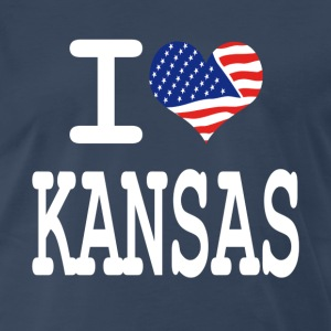i love kansas - white T-Shirts - Men's Premium T-Shirt