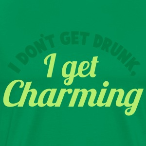 I Don't get DRUNK, I get CHARMING 2 color St Patrick's day party design T-Shirts - Men's Premium T-Shirt