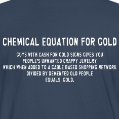 South Park: Chemical Equation for Gold (Front & Back) - Men's
