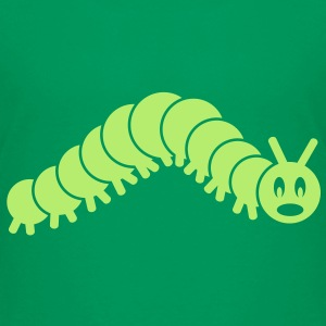caterpillar worm snake hungry butterfly maggot grub crawler inchworm looper Kids' Shirts - Kids' Premium T-Shirt