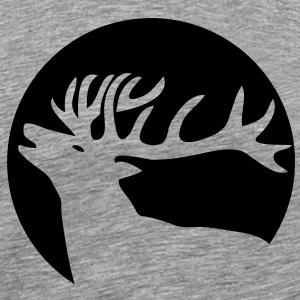 wild stag deer moose elk antler antlers horn horns cervine hart bachelor party night hunter hunting T-Shirts - Men's Premium T-Shirt