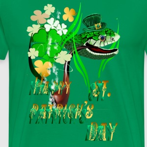 Irish Snake and Well Wishes - Men's Premium T-Shirt